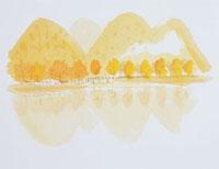 紅葉する山のイラスト 20014003134| 写真素材・ストックフォト・画像・イラスト素材|アマナイメージズ