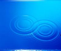 ブルーの水紋