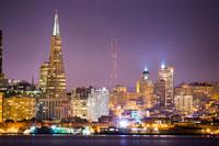 San Francisco city skyline at night