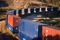 Boxcars on train tracks