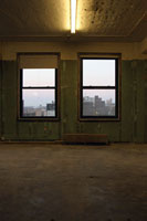 Empty room and windows