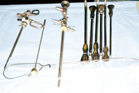 Surgical equipment on table