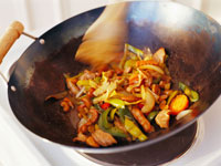 a vegetable dish in a wok