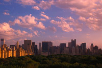 View over Central Park and Manhattan