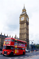 Big Ben and a bus in London