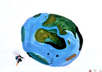 かわいそうな地球 20020000036| 写真素材・ストックフォト・画像・イラスト素材|アマナイメージズ