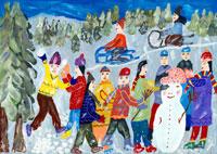 雪遊び 20020000179| 写真素材・ストックフォト・画像・イラスト素材|アマナイメージズ