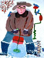 冬の釣り 20020000202| 写真素材・ストックフォト・画像・イラスト素材|アマナイメージズ