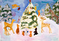 森のクリスマスツリー 20020000242| 写真素材・ストックフォト・画像・イラスト素材|アマナイメージズ