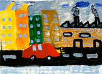 汚れた町 20020000262| 写真素材・ストックフォト・画像・イラスト素材|アマナイメージズ