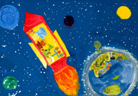 ロケットと地球