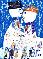 雪だるまの結婚式 20020000270| 写真素材・ストックフォト・画像・イラスト素材|アマナイメージズ