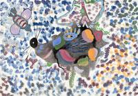 犬とハチ 20020000393| 写真素材・ストックフォト・画像・イラスト素材|アマナイメージズ