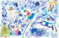雪の日に 20020000424| 写真素材・ストックフォト・画像・イラスト素材|アマナイメージズ
