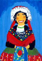 民族衣装を着た女の子