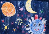 月と太陽と地球
