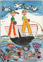 魚釣りをするひと 20020000678| 写真素材・ストックフォト・画像・イラスト素材|アマナイメージズ