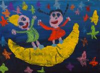 月の上で踊る 20020000925| 写真素材・ストックフォト・画像・イラスト素材|アマナイメージズ