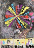 大きな花火 きれいだな 20020001076| 写真素材・ストックフォト・画像・イラスト素材|アマナイメージズ