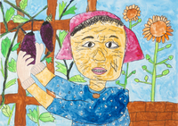おばあちゃんのやさい作り 20020001080| 写真素材・ストックフォト・画像・イラスト素材|アマナイメージズ
