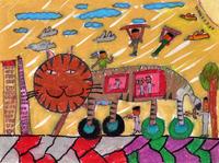 猫バス 20020001325| 写真素材・ストックフォト・画像・イラスト素材|アマナイメージズ