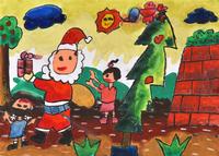サンタと遊んでる 20020001357| 写真素材・ストックフォト・画像・イラスト素材|アマナイメージズ