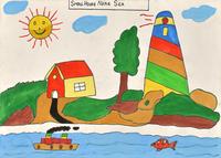 海の近くにある小さいお家 20020001378| 写真素材・ストックフォト・画像・イラスト素材|アマナイメージズ
