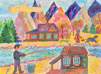秋の散歩 20020001455| 写真素材・ストックフォト・画像・イラスト素材|アマナイメージズ