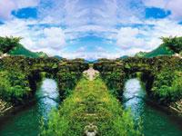 眼鏡橋と緑 20021000028| 写真素材・ストックフォト・画像・イラスト素材|アマナイメージズ