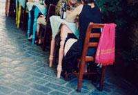トラットリアのテーブル