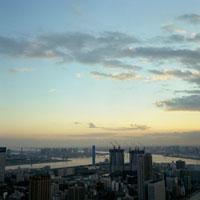東京都市風景の夕景 20021001102| 写真素材・ストックフォト・画像・イラスト素材|アマナイメージズ
