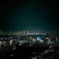 東京都市風景の夜景 20021001106| 写真素材・ストックフォト・画像・イラスト素材|アマナイメージズ