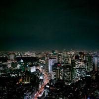 東京都市風景の夜景