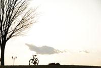 夕暮れの公園に自転車 20021001139| 写真素材・ストックフォト・画像・イラスト素材|アマナイメージズ