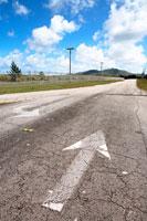 道路の矢印