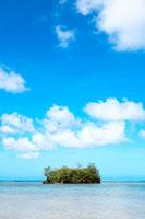 ビーチと小島と青空