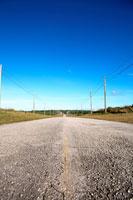 道路と青空