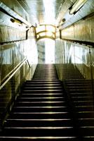 光が差し込む階段