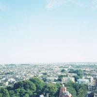 国分寺の町並み 20021003041| 写真素材・ストックフォト・画像・イラスト素材|アマナイメージズ