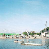 海岸線の漁港