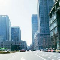 オフィス街の道路