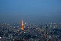 東京タワーのライトアップと夜景