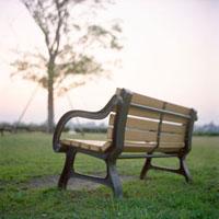 公園のベンチ 20021005703| 写真素材・ストックフォト・画像・イラスト素材|アマナイメージズ