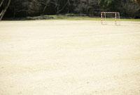 グラウンドのサッカーゴール