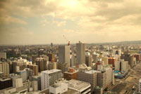 展望台より望む札幌の町並み