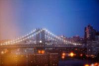 ブルックリンブリッジのライトアップ