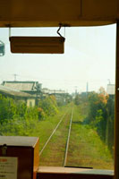 電車の車窓からの風景