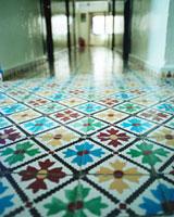 花柄模様の床 20021005957| 写真素材・ストックフォト・画像・イラスト素材|アマナイメージズ