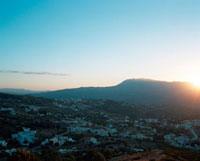 シャウエンの街に沈む夕日 20021006001| 写真素材・ストックフォト・画像・イラスト素材|アマナイメージズ