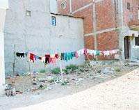 モロッコの洗濯物 20021006006| 写真素材・ストックフォト・画像・イラスト素材|アマナイメージズ